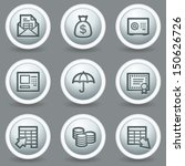 banking web icons  circle grey... | Shutterstock .eps vector #150626726