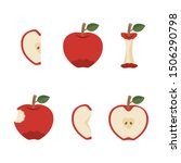variation of delicious red apple | Shutterstock .eps vector #1506290798