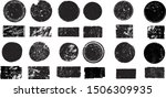 big collection of grunge post... | Shutterstock .eps vector #1506309935