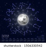 astrology calendar for 2020... | Shutterstock .eps vector #1506330542