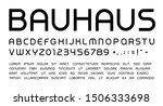 bauhaus letters and numbers set.... | Shutterstock .eps vector #1506333698
