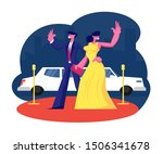 young famous couple on red... | Shutterstock .eps vector #1506341678