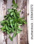 bunch of fresh organic mint | Shutterstock . vector #150641072