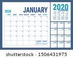 calendar 2020. english calender ... | Shutterstock .eps vector #1506431975