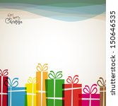 christmas card with christmas... | Shutterstock .eps vector #150646535
