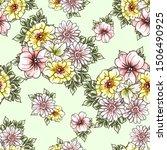flower print. elegance seamless ...   Shutterstock . vector #1506490925