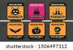 happy halloween vector  ... | Shutterstock .eps vector #1506497312