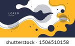 organic forms with dynamic... | Shutterstock .eps vector #1506510158