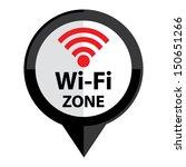 wi fi zone icon glossy white... | Shutterstock .eps vector #150651266