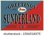 uk cities retro greetings from... | Shutterstock .eps vector #1506518375