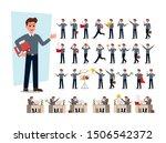 set of businessman character... | Shutterstock .eps vector #1506542372