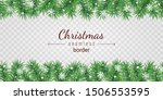 christmas tree seamless border... | Shutterstock .eps vector #1506553595