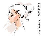 beautiful young woman model... | Shutterstock .eps vector #1506595352