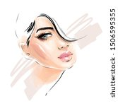 beautiful young woman model... | Shutterstock .eps vector #1506595355