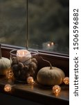 Autumn Cosy Candles And Pumpkin ...
