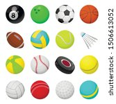 balls for playing games vector... | Shutterstock .eps vector #1506613052