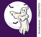 ghost dancing illustration with ... | Shutterstock .eps vector #1506637025