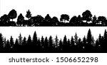 set of black horizontal... | Shutterstock .eps vector #1506652298