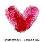 heart of fingerprints | Shutterstock . vector #150665402