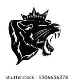 Roaring  Panther Wearing Royal...