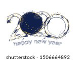 happy new 2020 year with flag... | Shutterstock .eps vector #1506664892