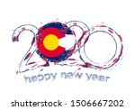 happy new 2020 year with flag... | Shutterstock .eps vector #1506667202
