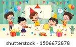 children having fun in a room   Shutterstock .eps vector #1506672878