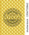 petticoat gold shiny badge.... | Shutterstock .eps vector #1506733862