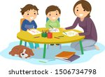 illustration of stickman kids... | Shutterstock .eps vector #1506734798