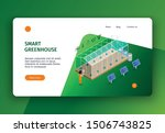 isometric smart farm concept...