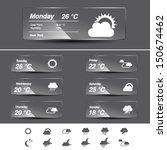 vector weather forecast  widget ... | Shutterstock .eps vector #150674462