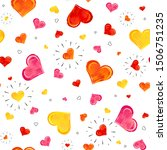 seamless pattern with colorful...   Shutterstock .eps vector #1506751235
