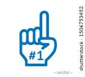 fan number one. vector... | Shutterstock .eps vector #1506753452