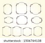 set of vector decorative ... | Shutterstock .eps vector #1506764138