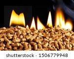 burning wood chip pellets a... | Shutterstock . vector #1506779948
