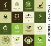 set of icons for organic food... | Shutterstock .eps vector #150679376