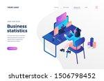 business statistics isometric... | Shutterstock .eps vector #1506798452