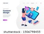 content design isometric... | Shutterstock .eps vector #1506798455