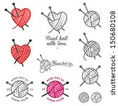 set of hand knit labels  badges ... | Shutterstock .eps vector #150680108