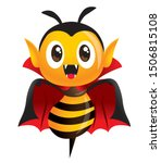 happy halloween  vampire bee.... | Shutterstock .eps vector #1506815108