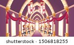 royal ball  solemn ceremony in... | Shutterstock .eps vector #1506818255