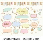 marker hand drawn style speech ... | Shutterstock .eps vector #1506819485