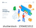 online shopping isometric... | Shutterstock .eps vector #1506821012