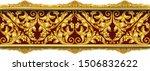 3d illustration seamless golden ... | Shutterstock .eps vector #1506832622
