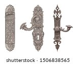 Silver Door Handles Isolated O...