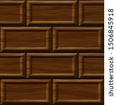 seamless old dark oak square... | Shutterstock . vector #1506845918
