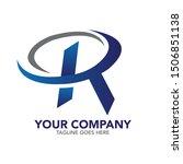stock vector creative r letter... | Shutterstock .eps vector #1506851138