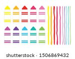 colorful cute chunky marker and ... | Shutterstock .eps vector #1506869432