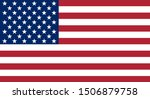 official flag of the united... | Shutterstock . vector #1506879758