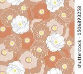 modern blooming flower botanic...   Shutterstock .eps vector #1506893258